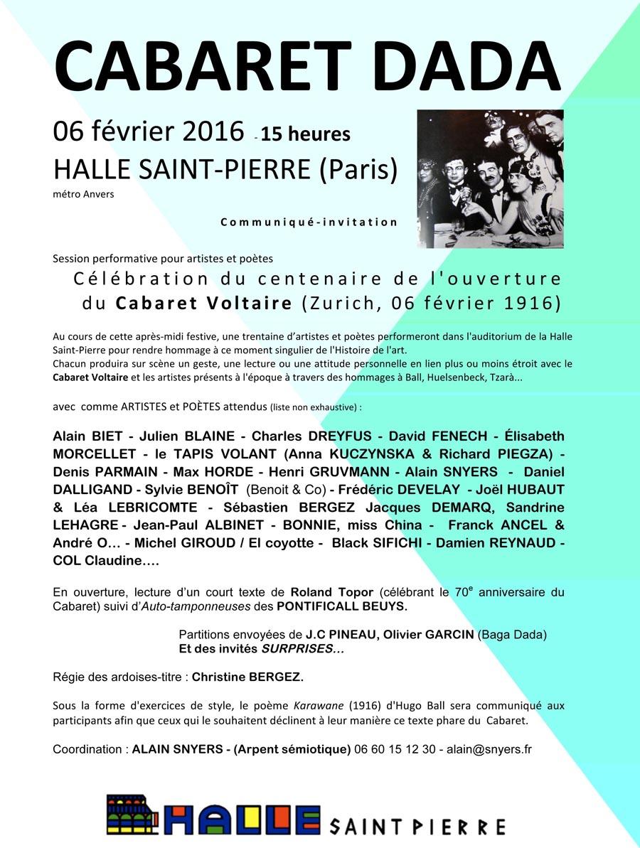 centenaire_Cabaret_Voltaire-communquŽ 1-Halle-St-Pierre-06-12-15